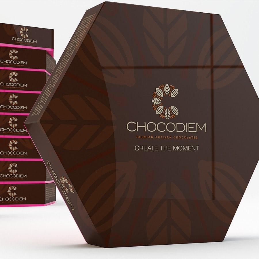hexagon chocolate box