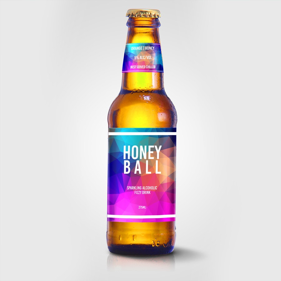 honey ball label design