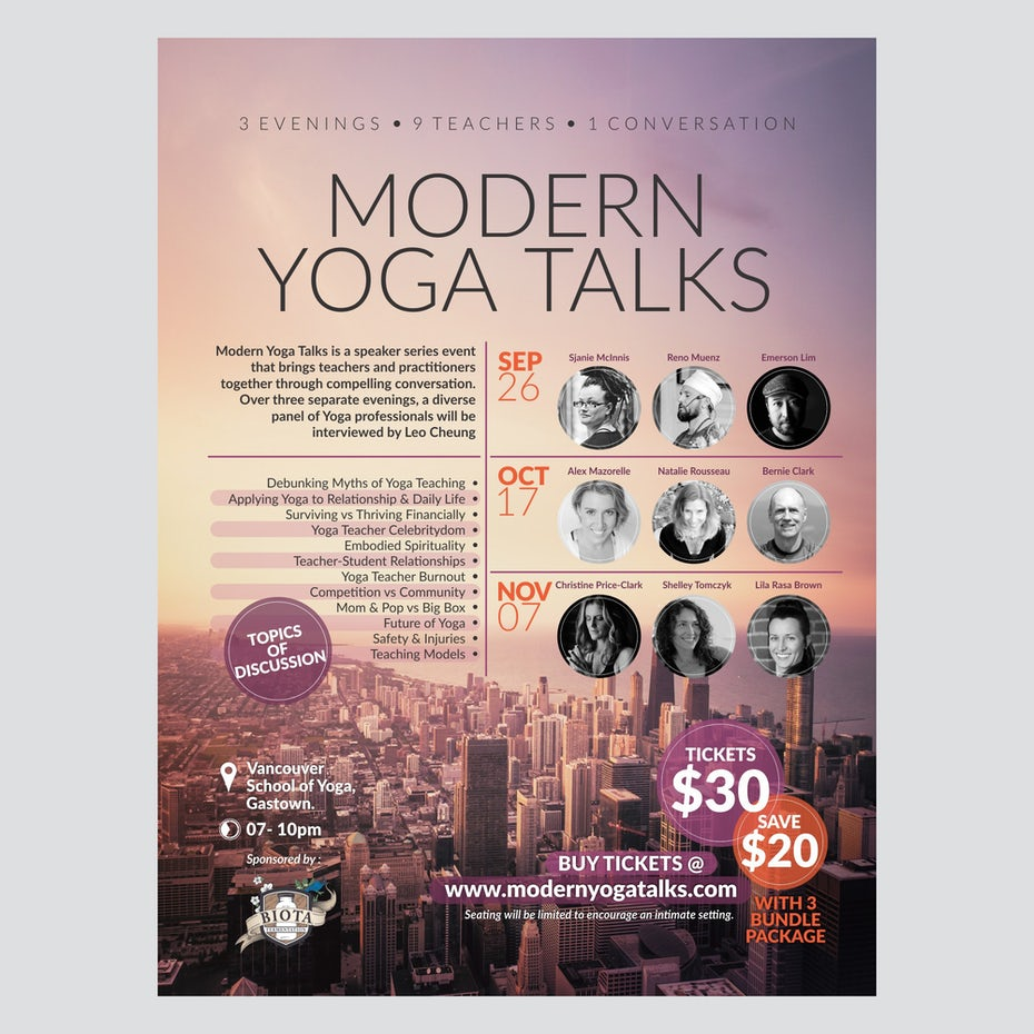 yoga posterby trisixtin for yogawithleo