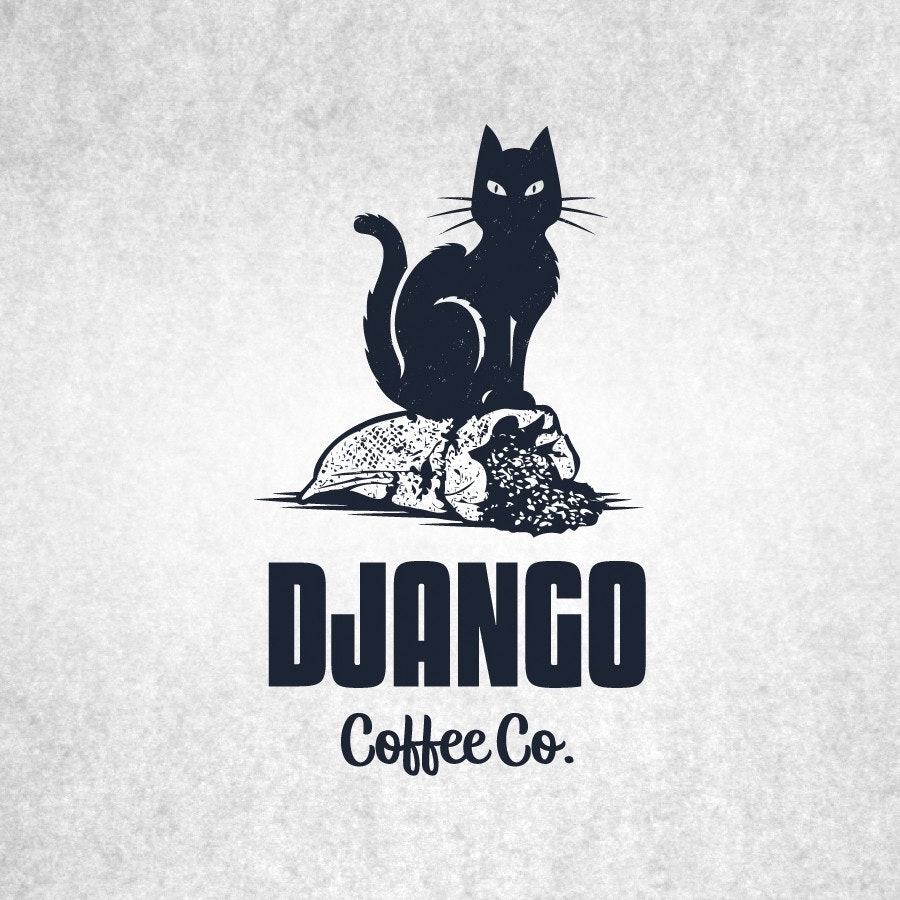 django coffee cat logo