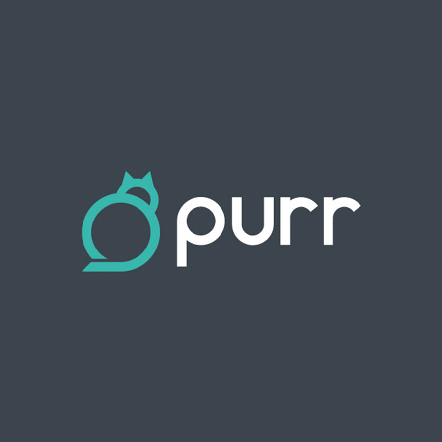 purr cat logo