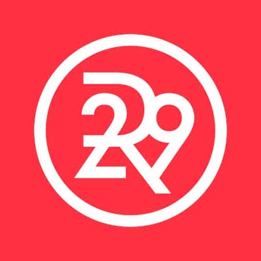 Red refinery29 logo