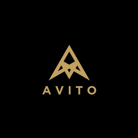 AV initials real estate logo gold on dark background