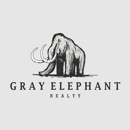 Gray Elephant real estate logo