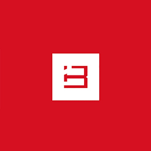 abstract red logo