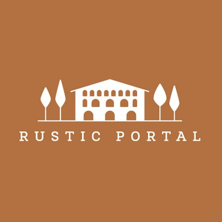 Rustic Portal real estate logo
