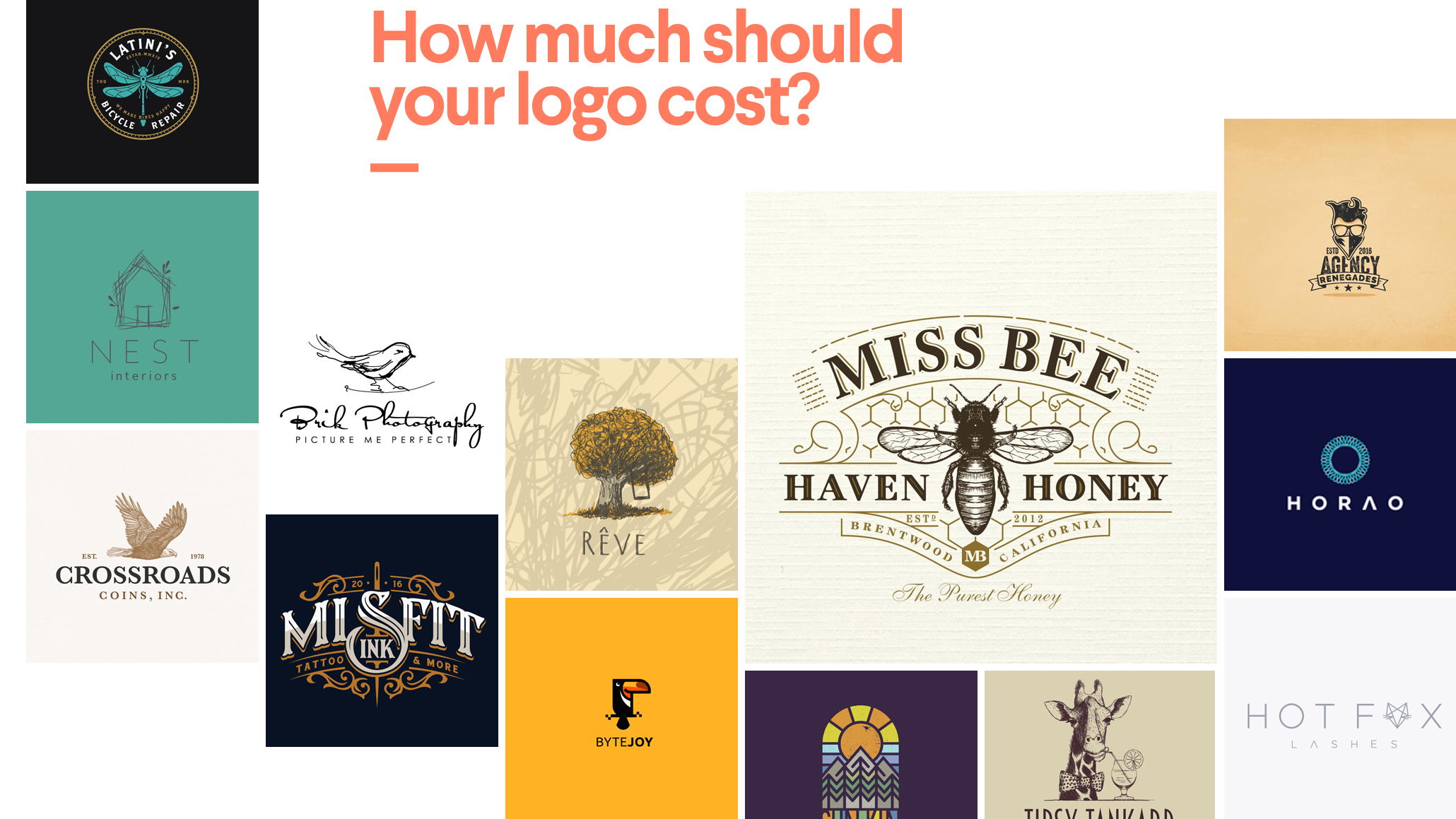 221d29a598a18a How much does a logo design cost? | 99designs