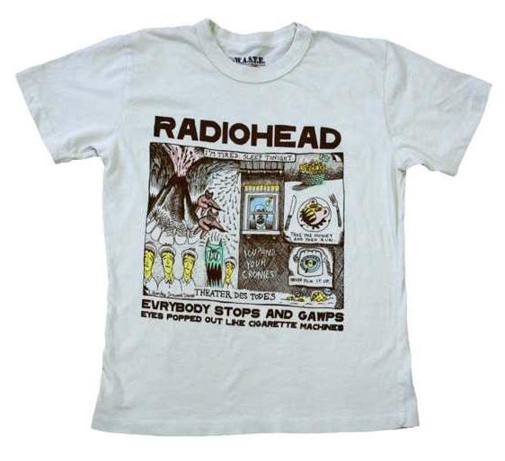 Radiohead band t-shirt