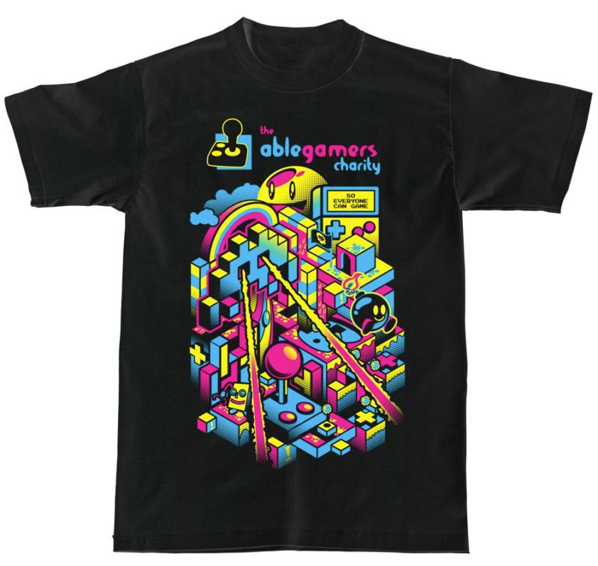 A t-shirt design for AbleGamer's charity