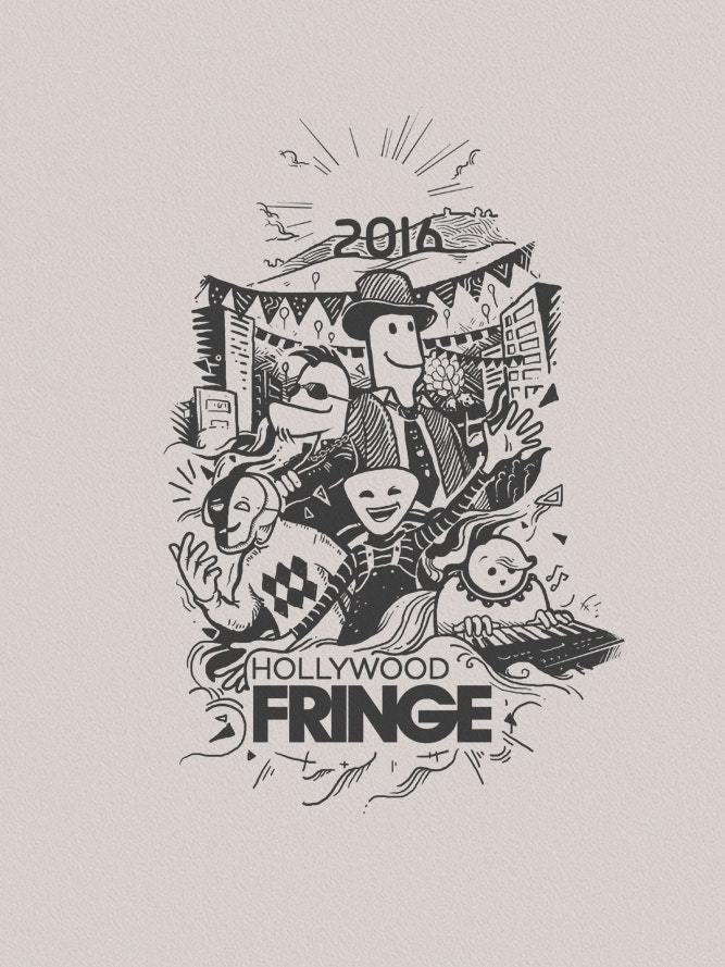 Illustrated t-shirt design for a film festival