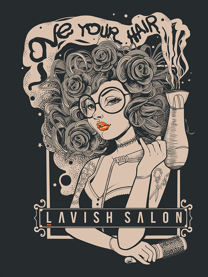 Illustrated t-shirt for a salon