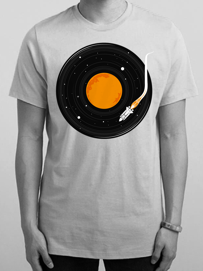 Outer space t-shirt illustration