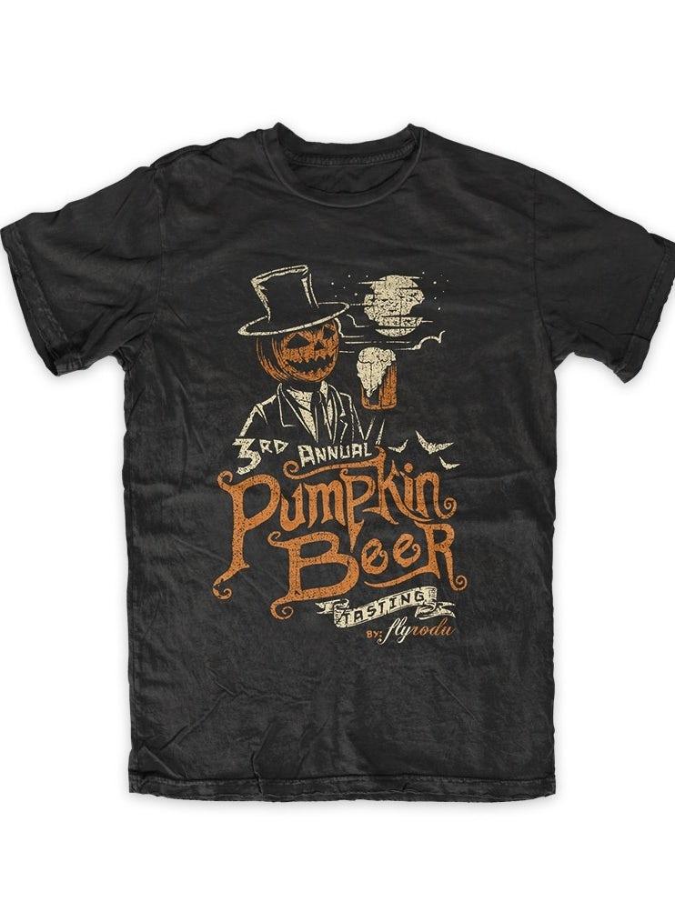Jackolantern t-shirt illustration for a beer festival