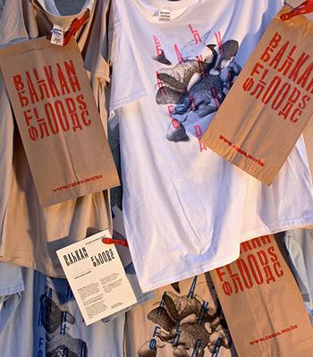 A t-shirt design benefiting the Balkan floods