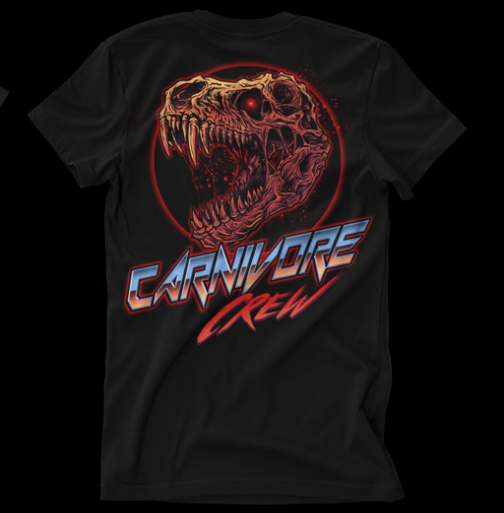 A t-shirt design for the Carnivore Crew club