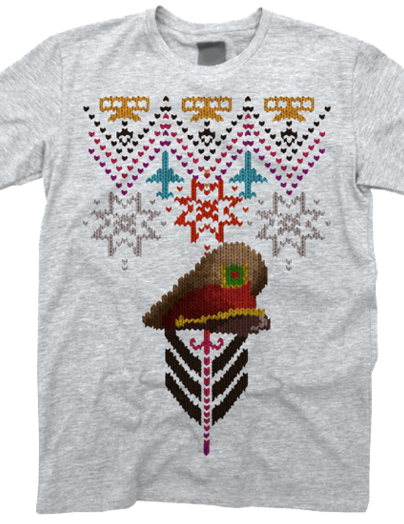 Pixel-style christmas t-shirt design