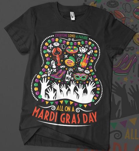 A mardis gras festival t-shirt