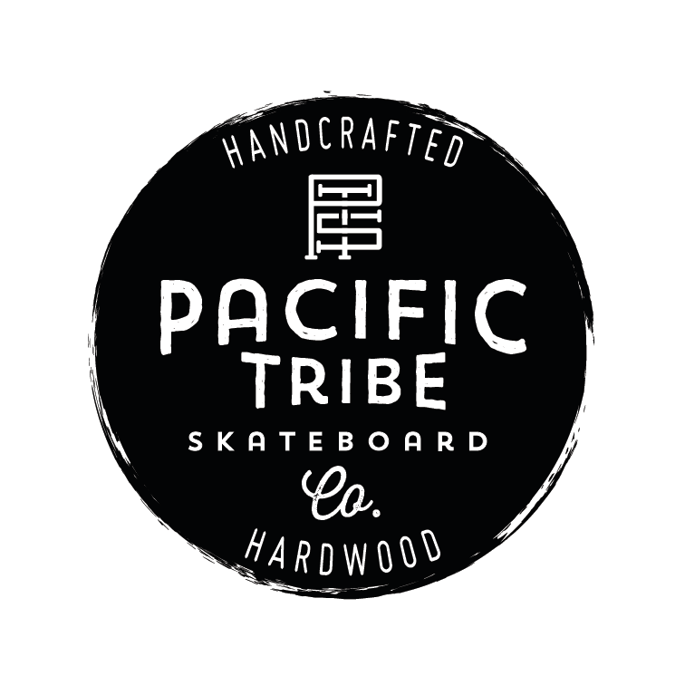 Pacific Tribe handcrafted hardwood skateboard company logo
