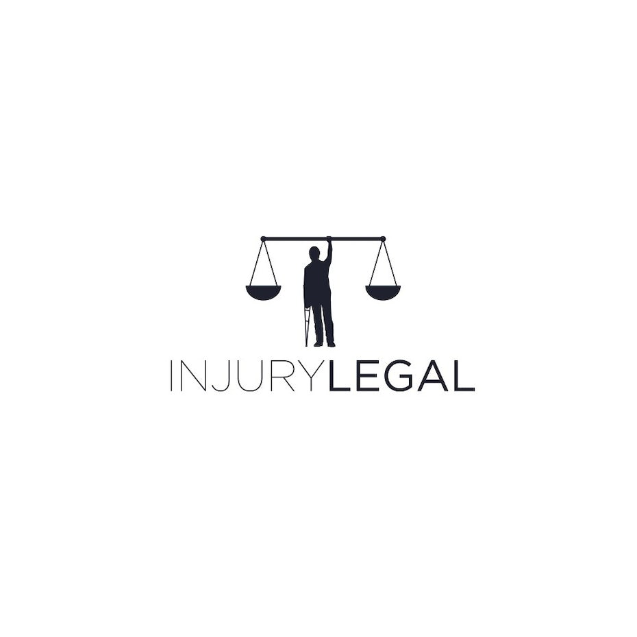 31 law firm logos that raise the bar 99designs legal logo with man on crutch scales of justice biocorpaavc Gallery