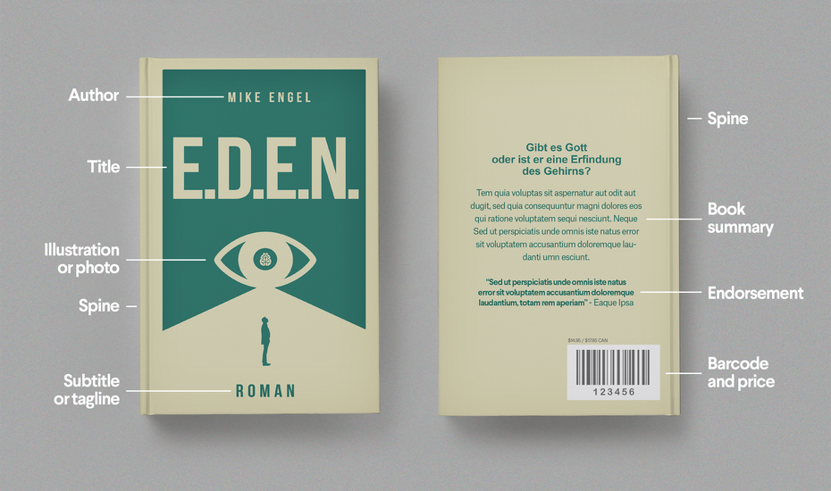 Book Cover Layout Key : Anatomy of a book cover designs