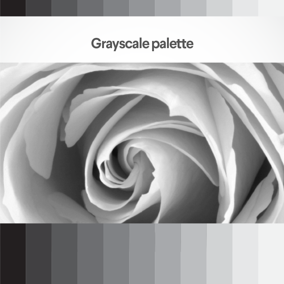 Grayscale palette