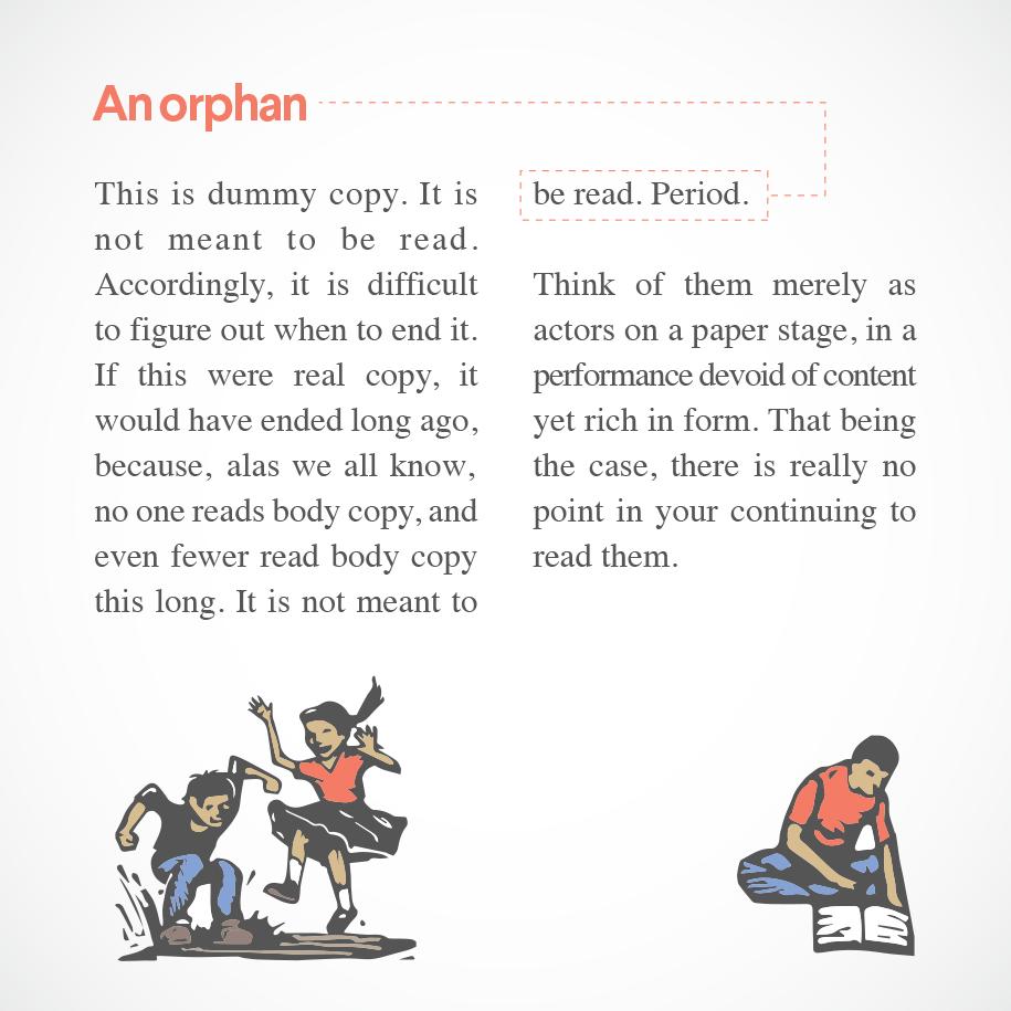 text orphan