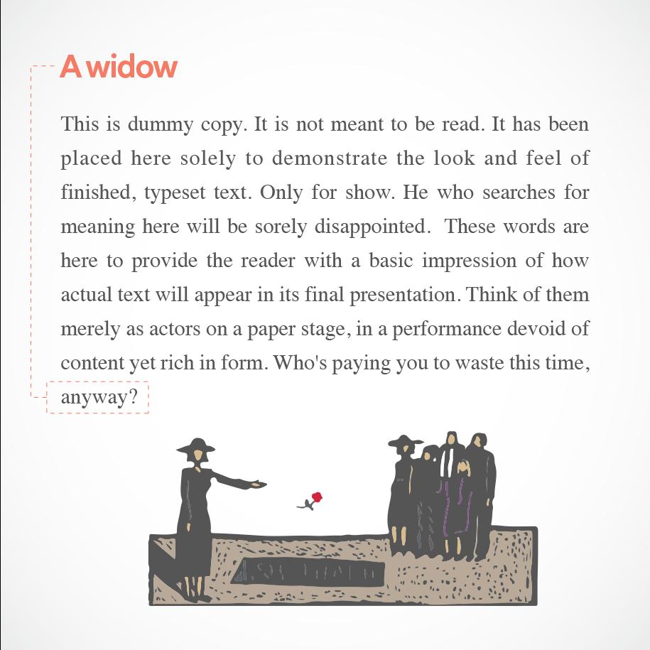 text widow