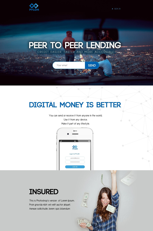 Peer to peer landing page