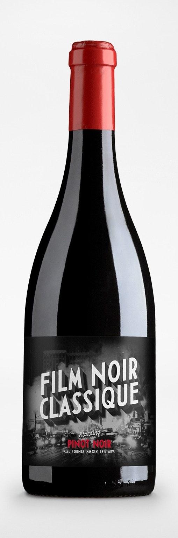 Film Noir Classique Wine Label