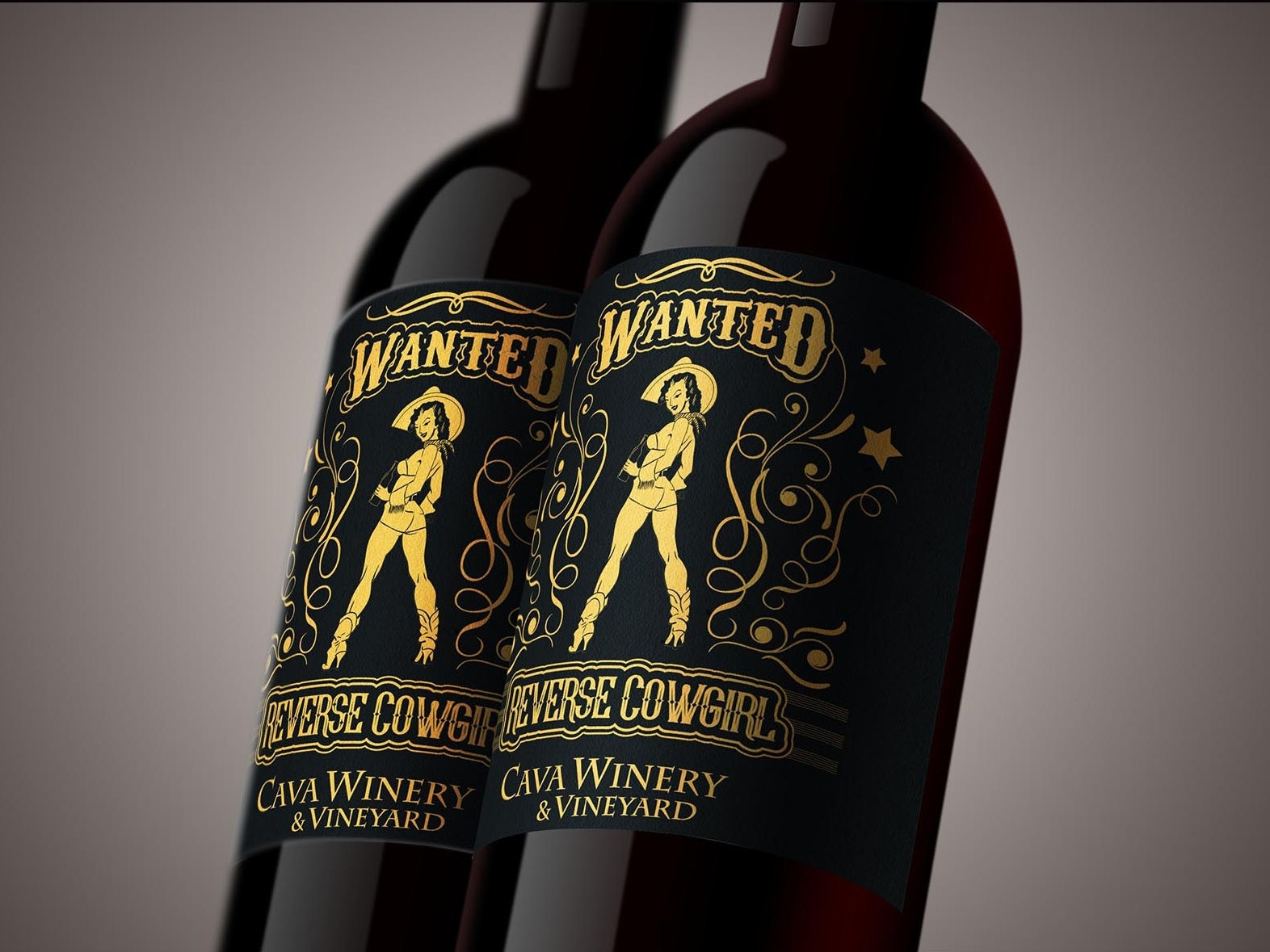 Reverse Cowgirl Wine Label
