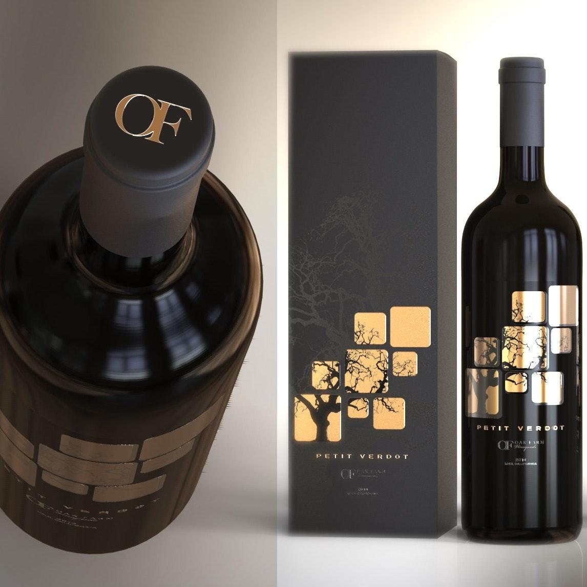 Oak Farm Wine Label
