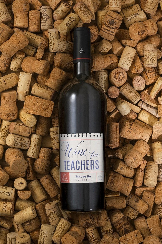 Wine For Teachers Label
