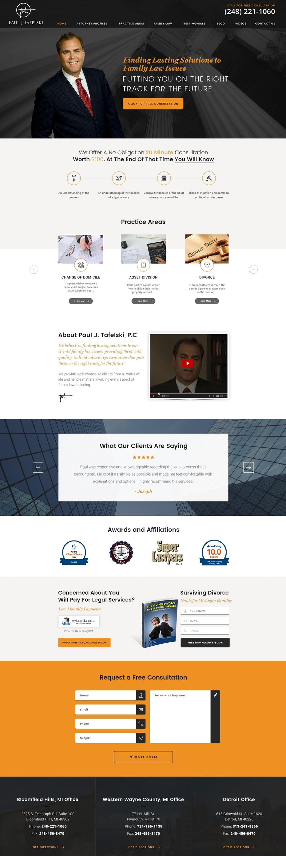 23 Inspirational Landing Page Design Ideas 99designs Electronics Tutorial Sections 1620 Lawyer