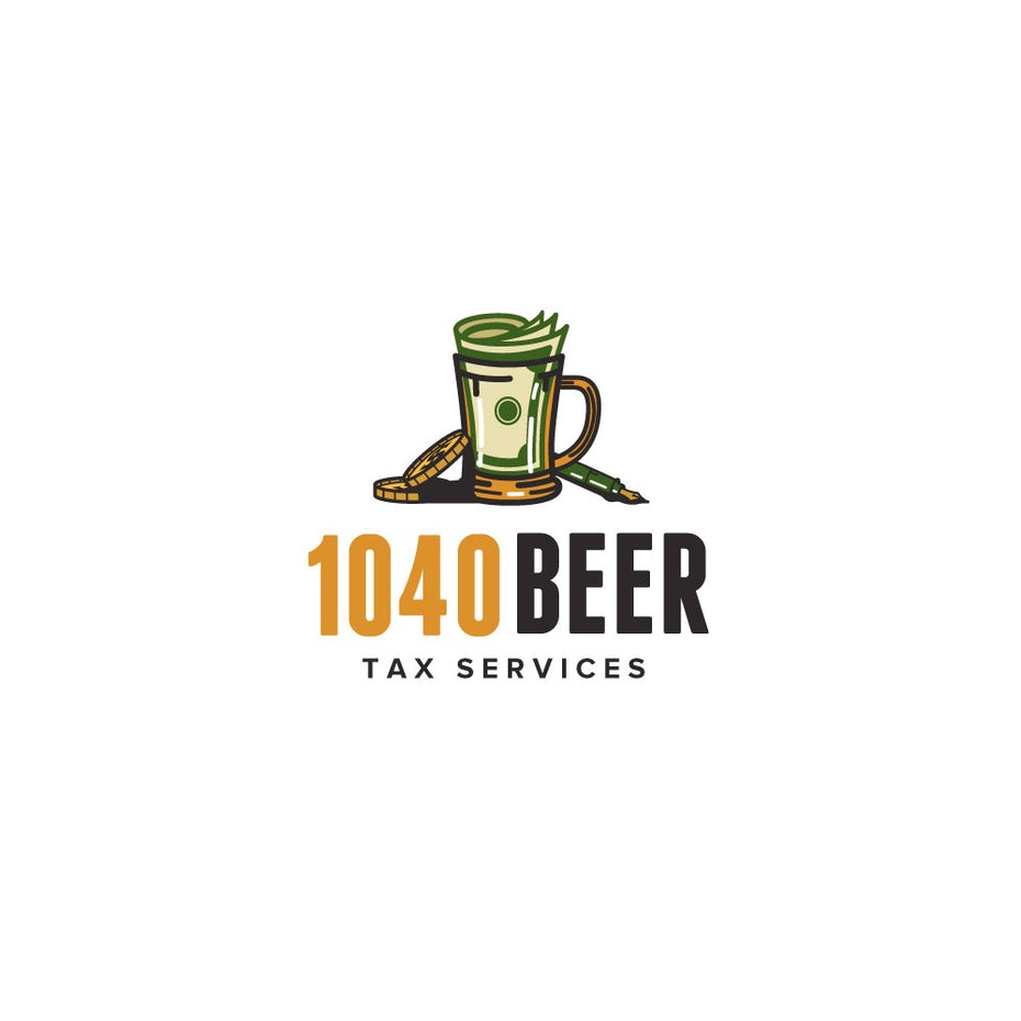 Beer Mug Money Logo Design