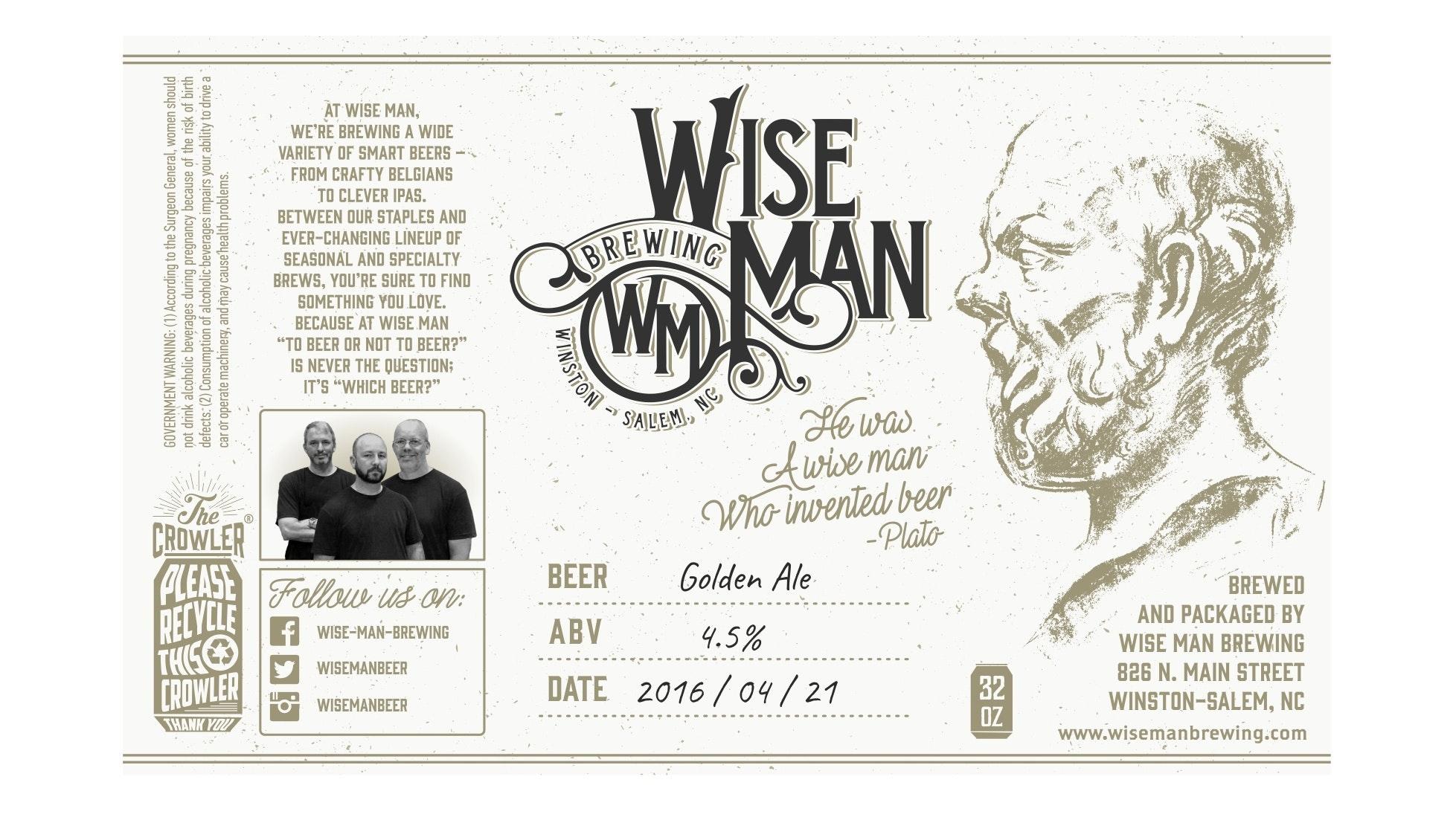 Wise Man beer label