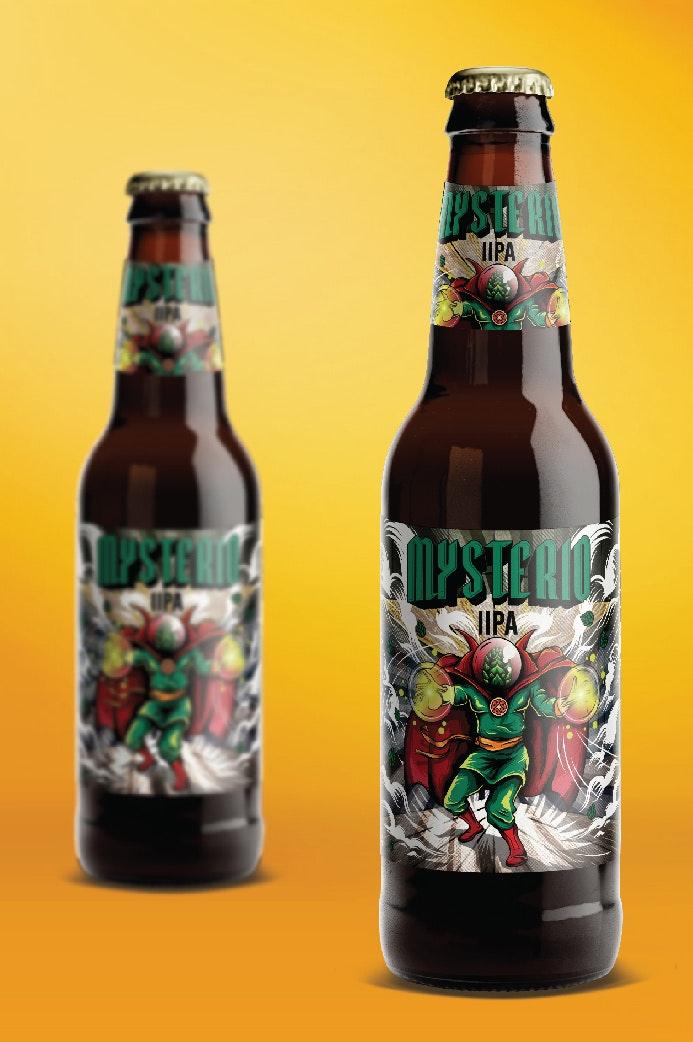 Mysterio beer label