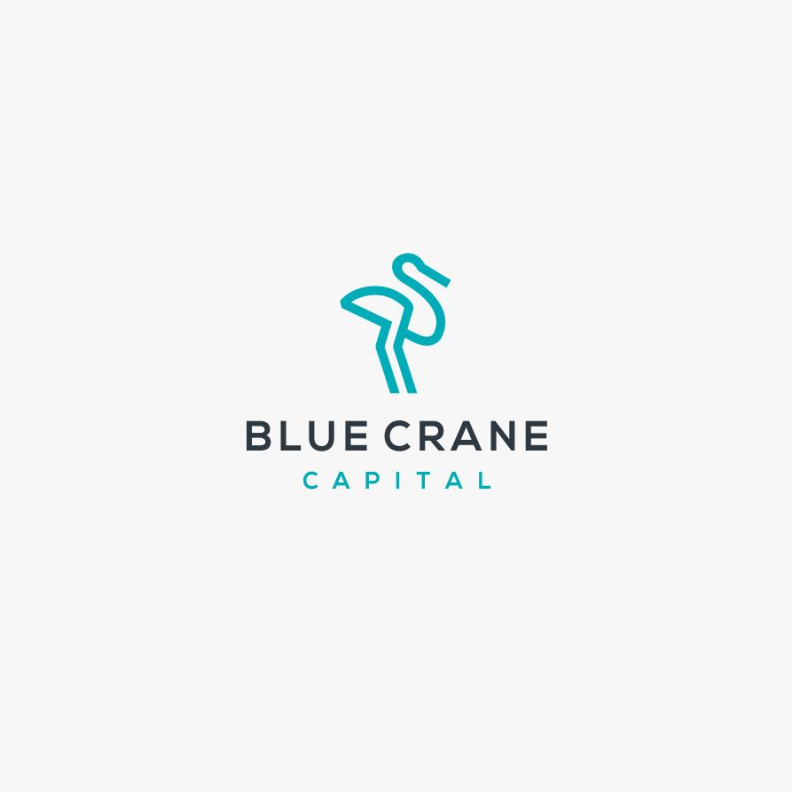 blue crane logo
