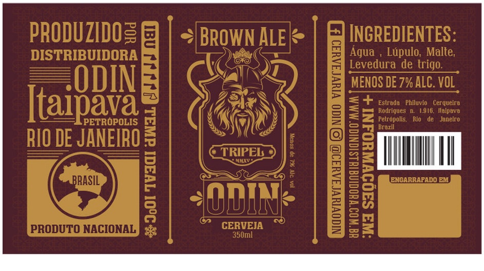 Traditionally designed beer label