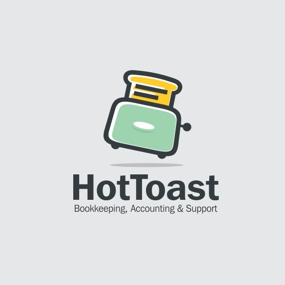 accounting logo by scribe for hottoast