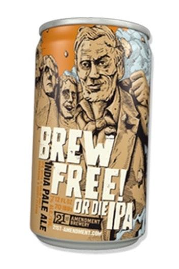 Brew Free or Die label