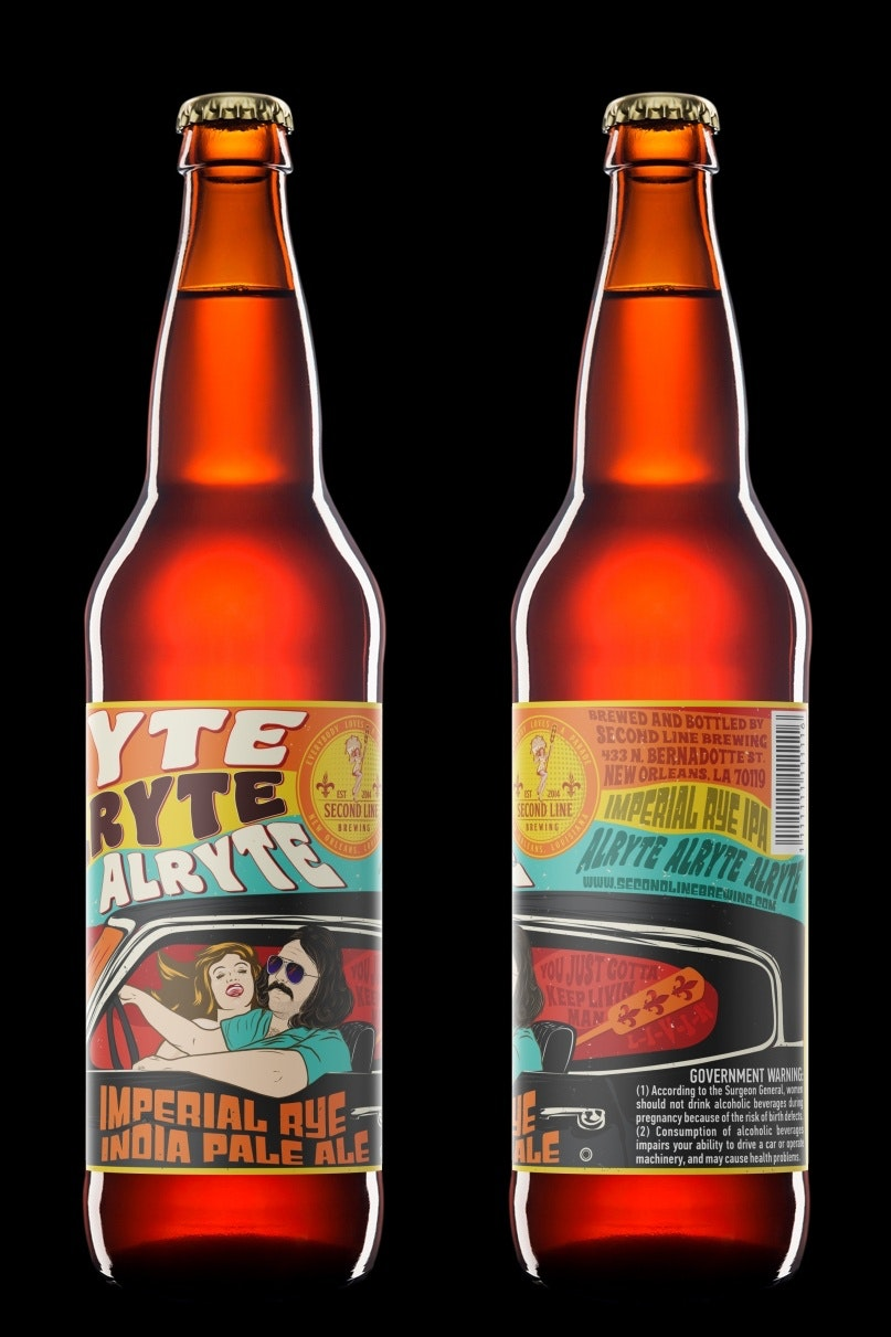 Cartoon-like beer label design