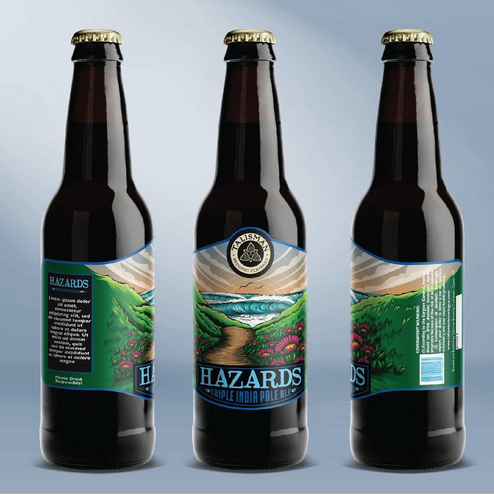 Hazards beer label