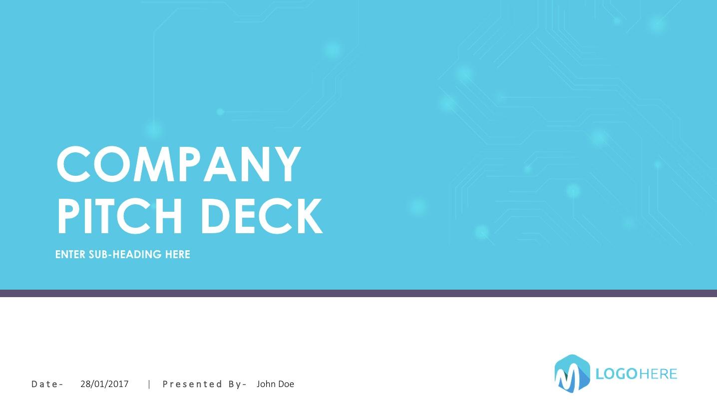 Blue pitch deck