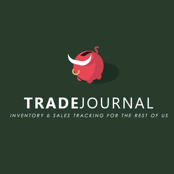 Trade journal logo made up of a piggy bank with bull horns