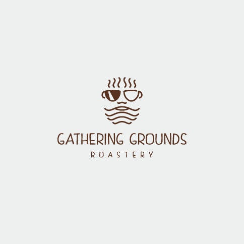Gathering grounds coffee logo design