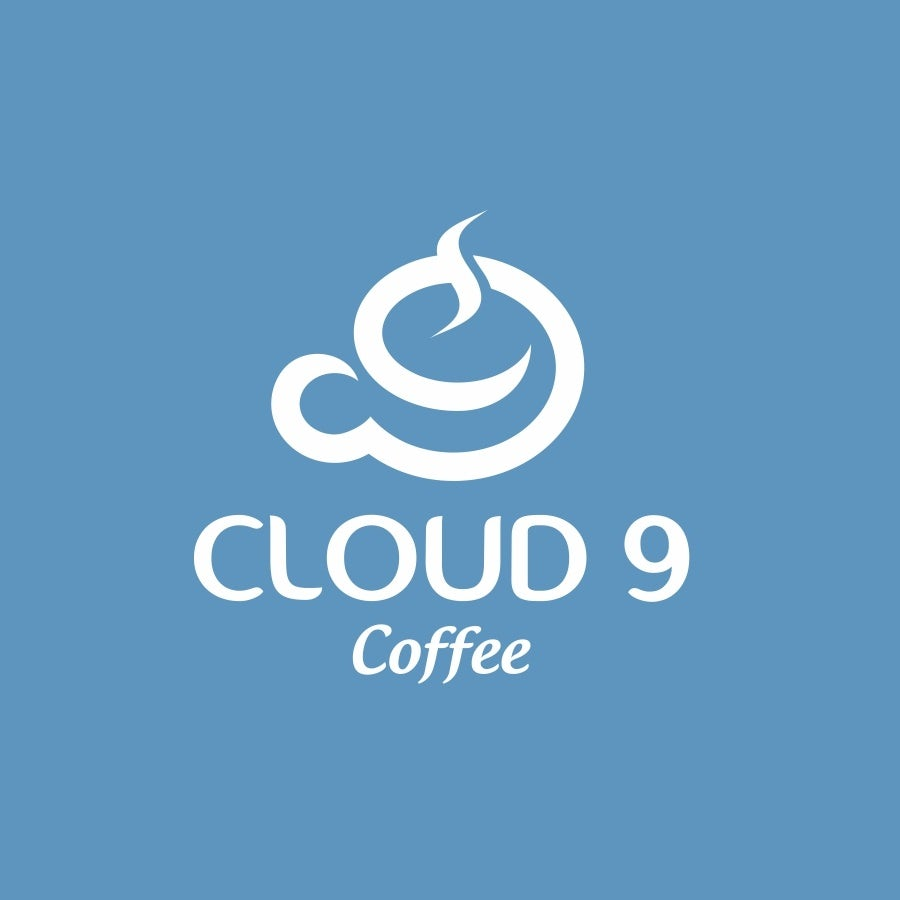 blue coffee brand design