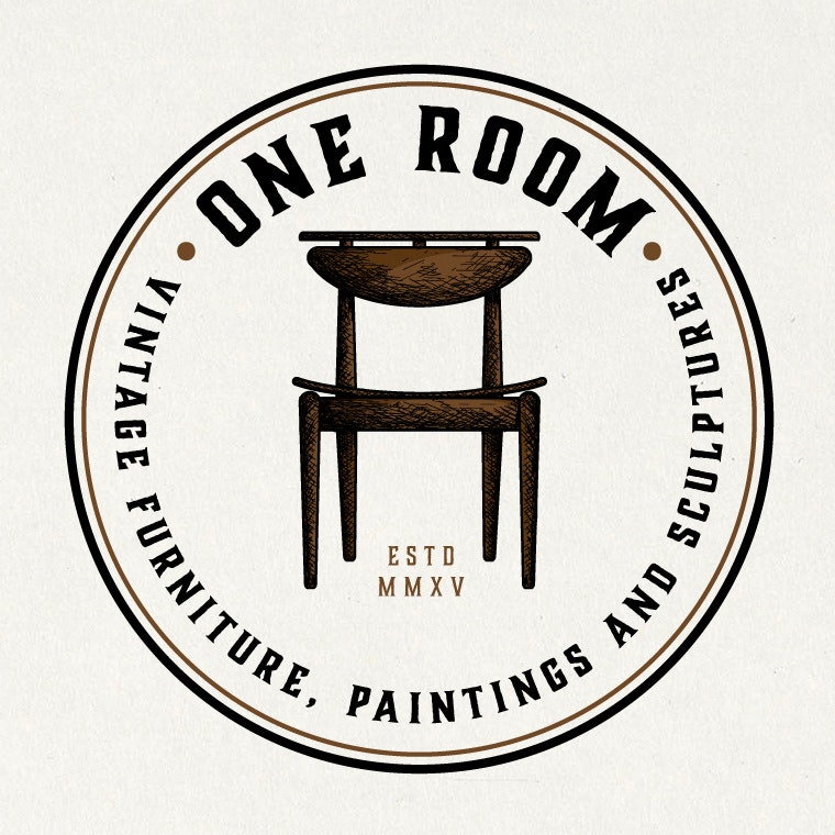 Vintage brown furniture logo