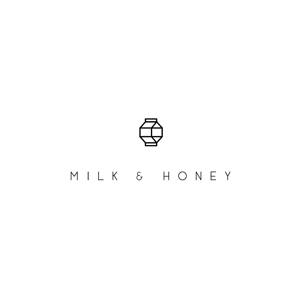 Simple geometric cafe logo design