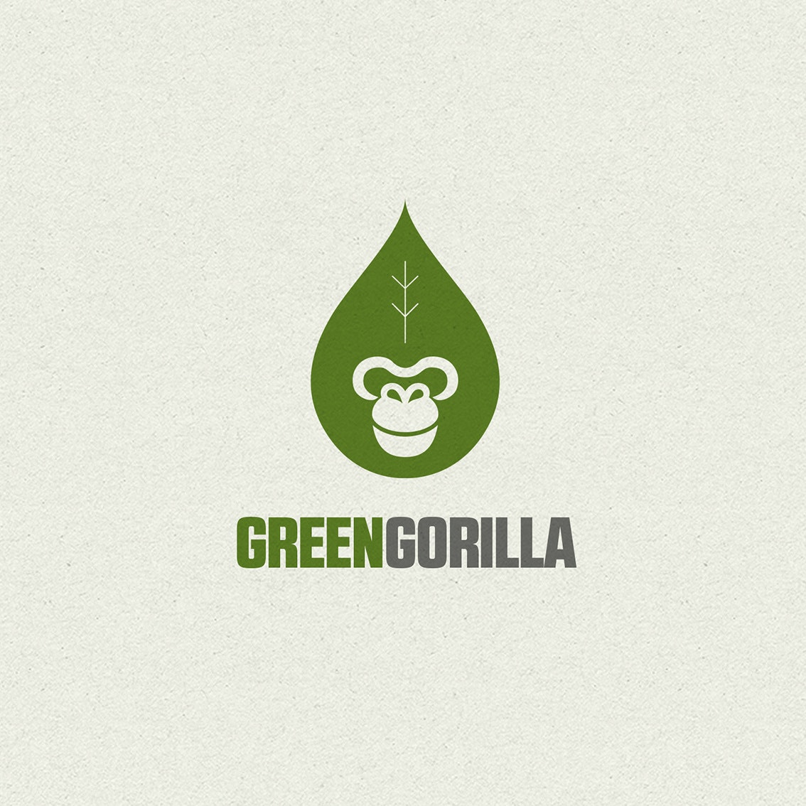 Green gorilla logo design