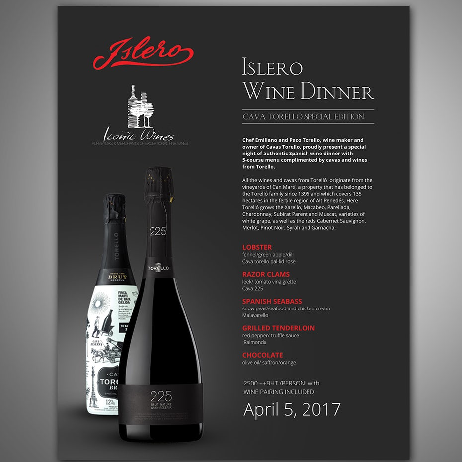 Colors in marketing and advertising 99designs black wine menu with red accents biocorpaavc Gallery